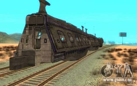 Un train reliant le jeu Aliens vs Predator v1 pour GTA San Andreas vue de droite