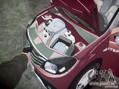 Dacia Sandero Stepway pour GTA 4 est une vue de dessous