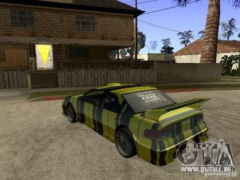 Vinyle pour Sultan pour GTA San Andreas sur la vue arrière gauche