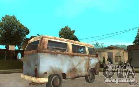 Dharma-Van (VW Typ 2 T2a) für GTA San Andreas rechten Ansicht