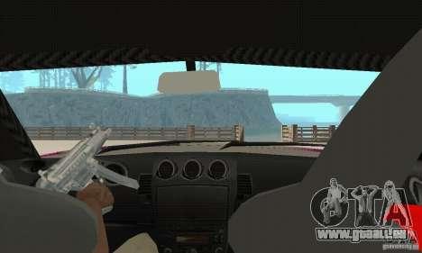 Nissan 350Z Tuning pour GTA San Andreas vue intérieure