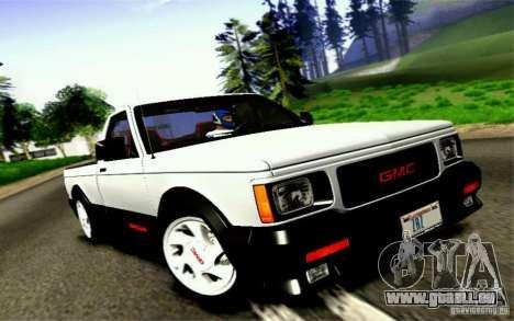 GMC Syclone Stock pour GTA San Andreas vue arrière