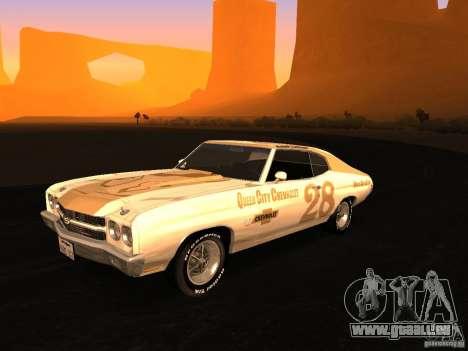Chevrolet Chevelle SS 1970 v.2.0 pjp1 pour GTA San Andreas vue intérieure