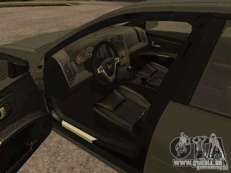 Cadillac CTS-V pour GTA San Andreas sur la vue arrière gauche
