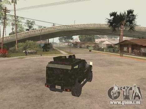 Oshkosh SandCat of Mexican Army pour GTA San Andreas sur la vue arrière gauche