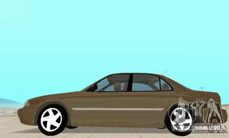 Mitsubishi Galant pour GTA San Andreas sur la vue arrière gauche