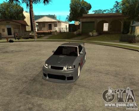 AUDI A4 Cabriolet pour GTA San Andreas vue intérieure