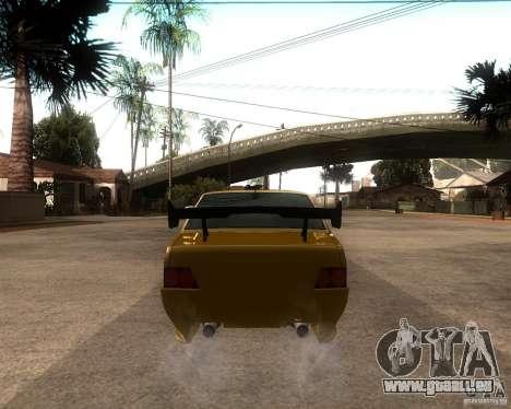 VAZ 21099 voiture Tuning pour GTA San Andreas sur la vue arrière gauche