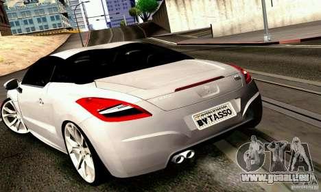 Peugeot Rcz 2011 pour GTA San Andreas vue arrière