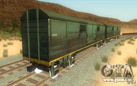 Un train reliant le jeu Half-Life 2 pour GTA San Andreas vue intérieure