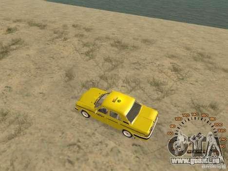GAZ-31105 taxi pour GTA San Andreas sur la vue arrière gauche