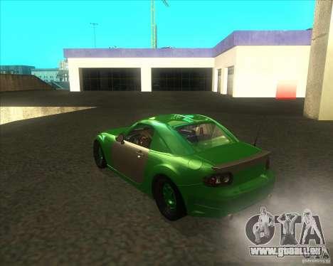 Mazda Miata MX-5 Konguard 2007 pour GTA San Andreas sur la vue arrière gauche