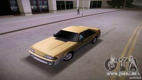 Ford Mustang GT 1993 pour une vue GTA Vice City de l'intérieur