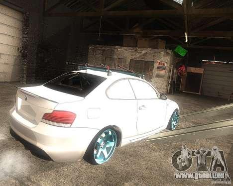 BMW 135i Hella Drift für GTA San Andreas zurück linke Ansicht