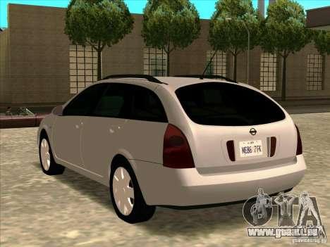 Nissan Primera Wagon pour GTA San Andreas laissé vue