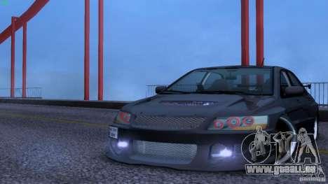 Mitsubishi Lancer Evolution 8 Drift für GTA San Andreas Rückansicht