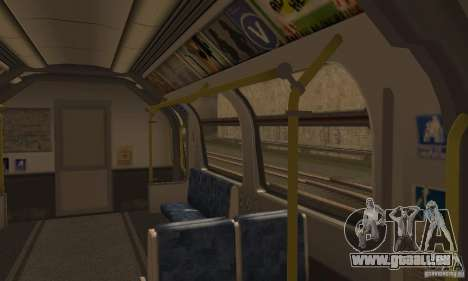 London Metro pour GTA San Andreas vue de droite