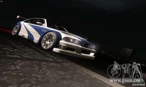 BMW M3 GTR pour GTA San Andreas vue de dessous