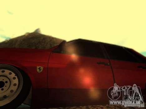 VAZ 21099 Ferrari pour GTA San Andreas vue arrière