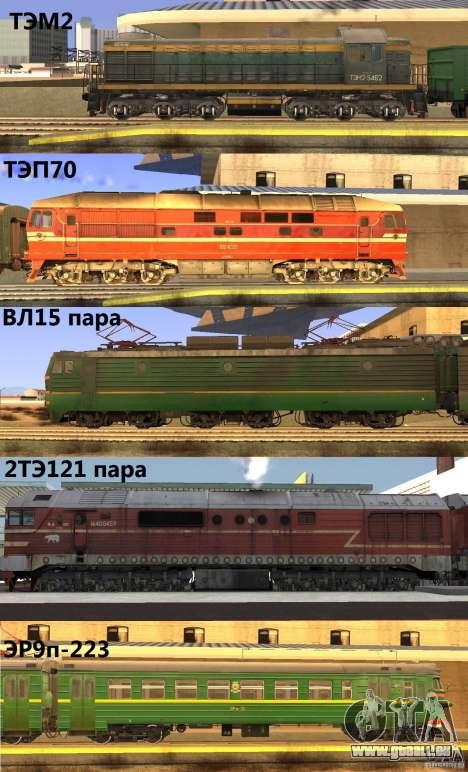 Eisenbahn-mod für GTA San Andreas