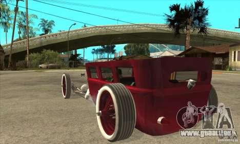 HotRod sedan 1920s no extra pour GTA San Andreas sur la vue arrière gauche