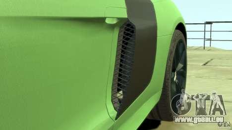 Audi R8 5.2 FSI quattro v1 pour GTA 4 vue de dessus