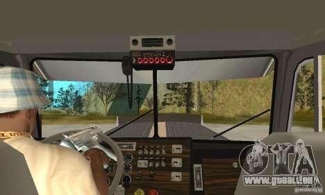 Peterbilt 379 Custom Legacy pour GTA San Andreas vue intérieure