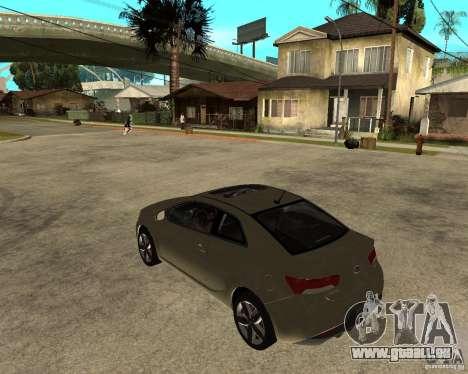 KIA Forte Coup pour GTA San Andreas laissé vue