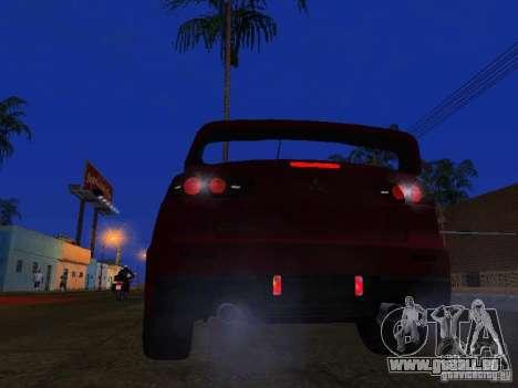 Mitsubishi Lancer Evo X für GTA San Andreas rechten Ansicht