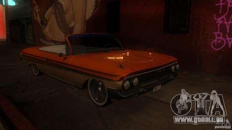 Chevy Impala SS 1961 pour GTA San Andreas vue de côté