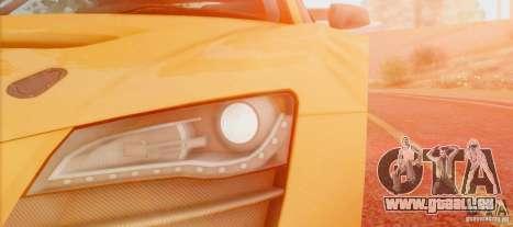 Audi R8 LMS GT3 pour GTA San Andreas sur la vue arrière gauche