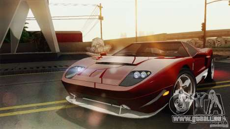 Bullet GT from TBOGT pour GTA San Andreas sur la vue arrière gauche