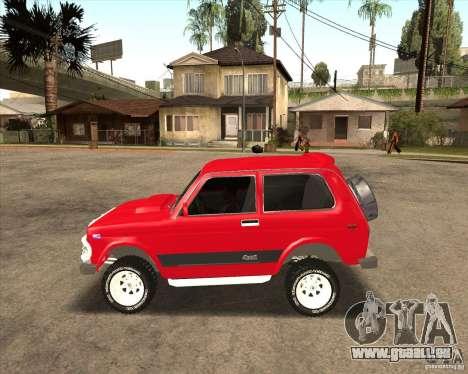 VAZ 21213 4 x 4 pour GTA San Andreas vue de dessous