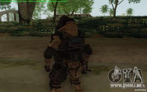 Tireur d'élite Warface pour GTA San Andreas troisième écran