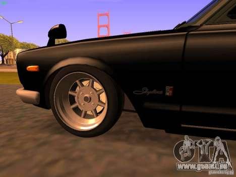Nissan Skyline 2000GTR pour GTA San Andreas vue de côté