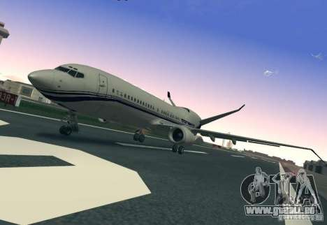 Boeing 737 Iron Man Bussines Jet pour GTA San Andreas