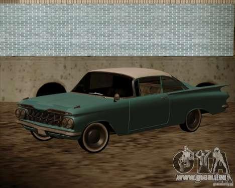 Chevrolet Impala 1959 für GTA San Andreas zurück linke Ansicht