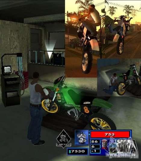 CLEO-Skript: Mototûning und Freestyle Motocross für GTA San Andreas zweiten Screenshot