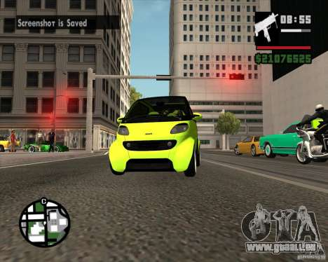 Smart Alienware pour GTA San Andreas vue arrière
