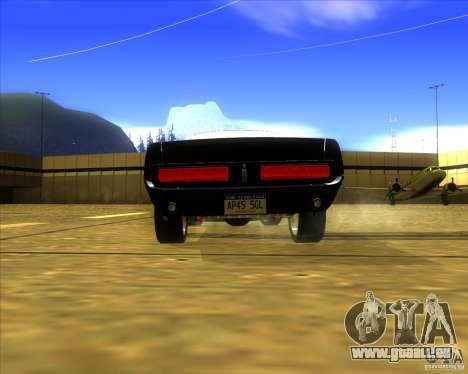 Shelby GT500 Eleanora clone pour GTA San Andreas sur la vue arrière gauche