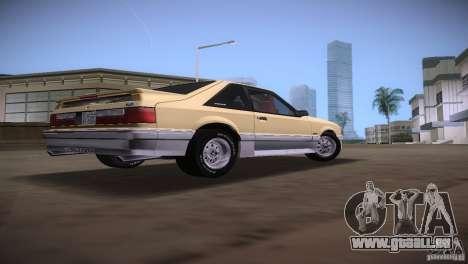 Ford Mustang GT 1993 für GTA Vice City Rückansicht