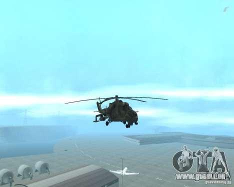 Mi-24p pour GTA San Andreas vue arrière