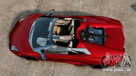 Lamborghini Reventon Roadster 2009 pour GTA 4 est un droit