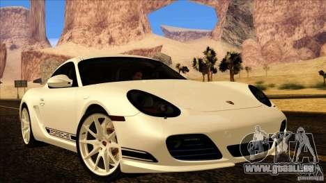 Porsche Cayman R 987 2011 V1.0 pour GTA San Andreas vue de dessus