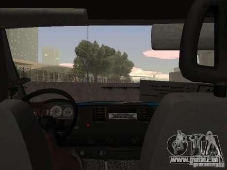 Taxi de la Gazelle pour GTA San Andreas vue de droite