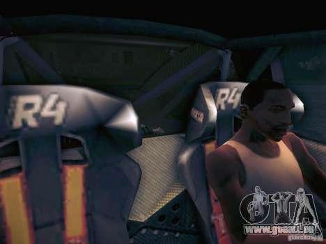 Colin McRae R4 pour GTA San Andreas vue intérieure