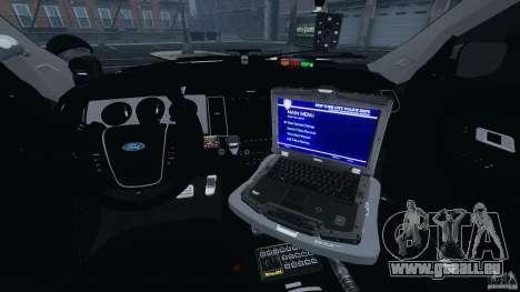 Ford Explorer NYPD ESU 2013 [ELS] pour GTA 4 Vue arrière