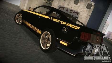 Shelby GT500 Terlingua pour GTA San Andreas vue de droite