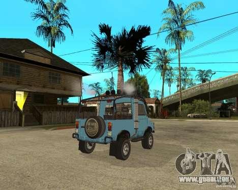 LuAZ 969 m away-Tuning pour GTA San Andreas sur la vue arrière gauche