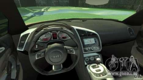 Audi R8 Spyder v10 [EPM] pour GTA 4 Vue arrière